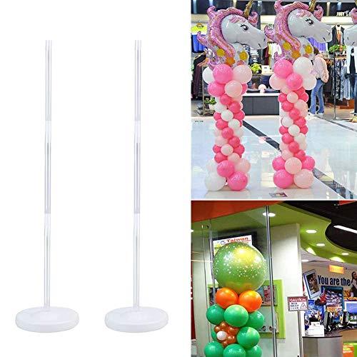 YUIP 2 Set Ballon-Säulen-Ständer,Balloon Stand Ballon Stick Halter Kit Luftballons Ballonhalter Kunststoffstab,Ballonzubehör für Party Dekoration Geburtstag Hochzeitsdekoration