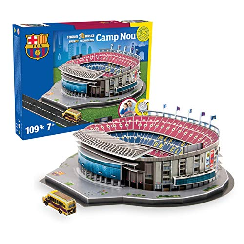NANOSTAD Maqueta/Puzzle 3D - Estadio Camp NOU 34x34x10. FC.