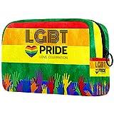Neceser de Maquillaje para Mujer Bolso Organizador de Kit de Viaje cosmético,Orgullo Gay arcoíris LGBT