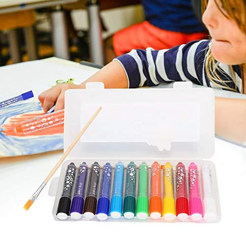Shipenophy Lápices de colores solubles en agua, lápices de colores sedosos para acuarelas, lápices de colores rápidos y convenientes para niños para colorear libros