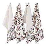 DII I Love Paris Collection Kitchen, Dishtowel Set, Eiffel Tower 4 Piece