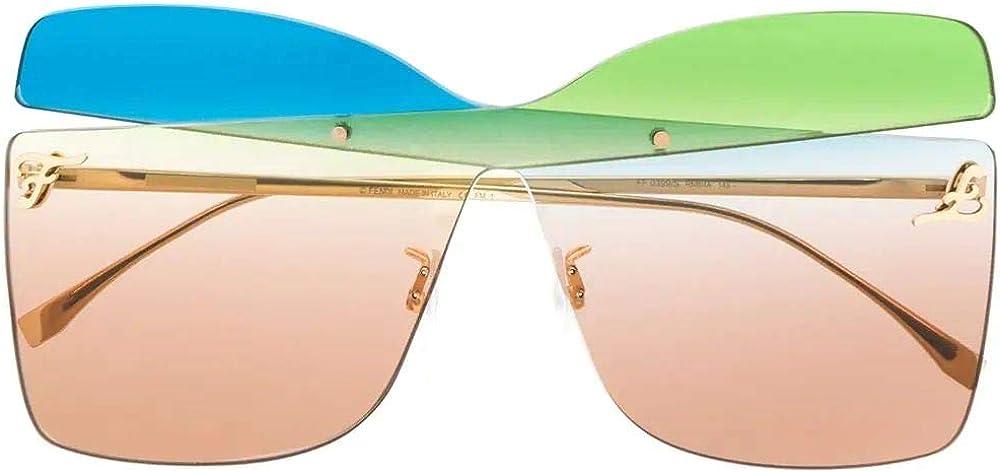 Fendi,occhiali da sole per donna,in metallo 100%, colore oro FF0399SRNBHA