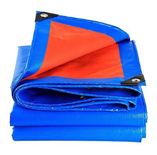 Lona Impermeable Lona Resistente al Agua Tela Impermeable Protector Solar Paño Sombra Aislamiento Protección contra la Lluvia Polietileno 23 tamaños (Color: Azul Tamaño: 1.9X2.9M)