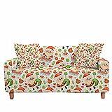 FANSU Funda de Sofá Elástica para Sofá de 1 2 3 4 Plazas, Ajustable Impresión Navidad 3D Cubre Sofa con 1 Funda Cojín,Antisuciedad Antideslizante Protector de Muebles, 1 plazas