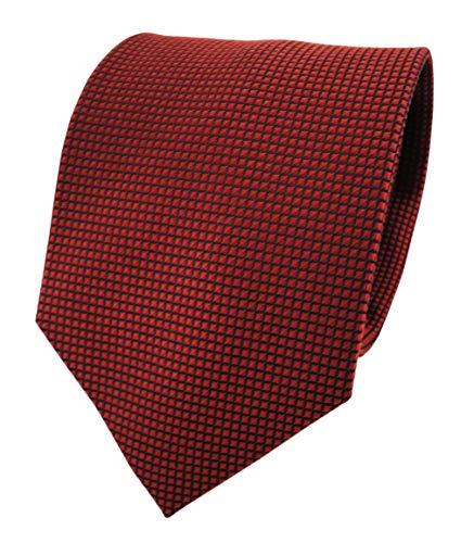ohne Markenname XXL corbata de seda - bronce rojo-marrón negro karopunktstruktur modelada