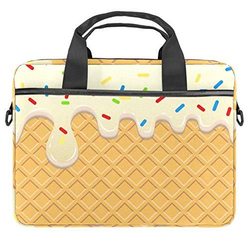 Kuchen Dessert Donut Laptoptasche Canvas Umhängetasche Handtasche Geeignet Für 15-15.4 Zoll MacBook Air/MacBook Pro/Notebooks 38x28cm