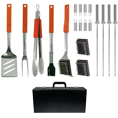 Mr. Bar.b.q 20-Piece Barbecue Tool Set with Case Stainless Steel 20 Piece