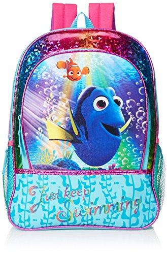 Disney Little Girls Dory Rainbow 16 Inch Backpack, Multi, One Size
