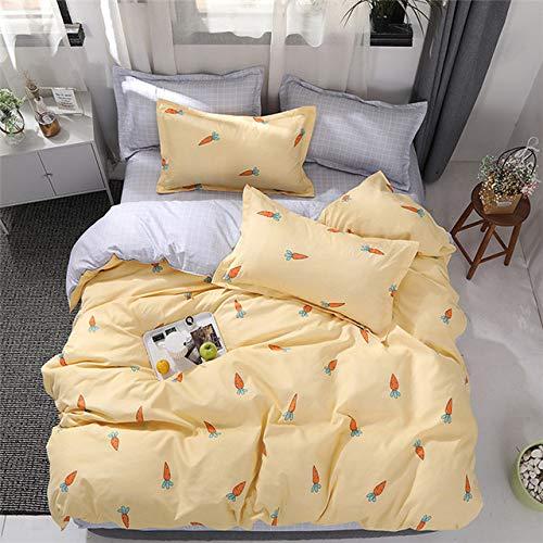 JIFOURYK12-009 Bettwäscheset, Schwarz und Weiß gestreift