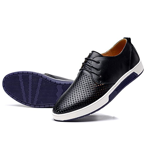 konhill Men's Casual Oxford Shoes - Breathable Dress Shoes Loafers Lace-up Flat...