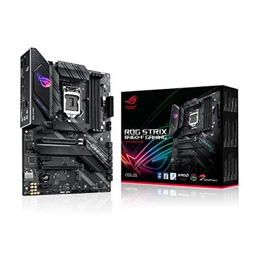 ASUS ROG Strix B460-F Gaming Mainboard Sockel 1200 (ATX, AI Networking, Intel 1Gbit/s-Ethernet, Zwei M.2 mit Kühlern, USB 3.2 Gen 2x2, SATA, Aura-Sync)