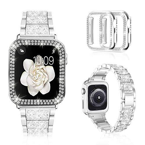 Mosonio Women, Jewelry Replacement Metal Wristband Strap