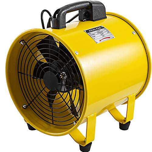 Mophorn Professionale Ventilatore Di Costruzione 12 Inch Ventilatore Da Pavimento Ventilatore Industriale A Tamburo 2500-3900m³/h