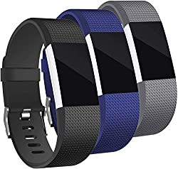 Rapidotzz Pack of 3 Belts Straps Compatible for Fitbit Charge2 Bands Wristband Straps,Rapidotzz