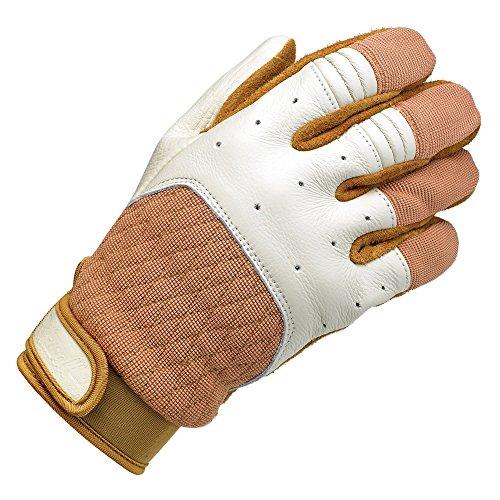 Biltwell Unisex-Erwachsene Handschuhe (weiß/Hellbraun, XX-Large)