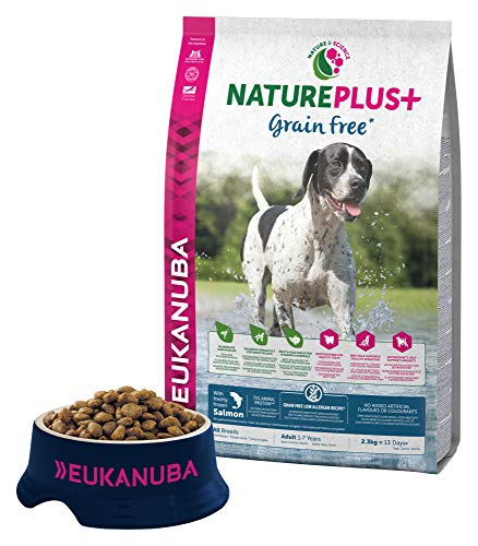 EUKANUBA NaturePlus+ Sin grano Adulto Todas las razas Con salmón fresco congelado [2.3 kg]