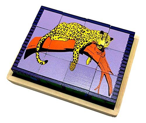 Skola Toys Animal Puzzle Blocks: Wild Animal Puzzle Cubes