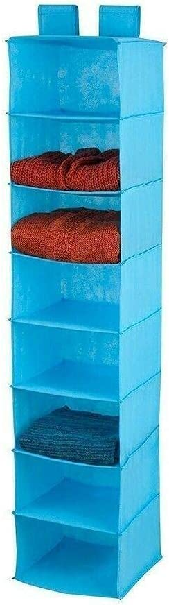 8 Shelf Hanging Organizer Ocean Max 79% OFF Non-Woven Blue Bombing new work Sh Fabric