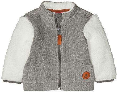 s.Oliver Junior Baby-Jungen 65.810.43.3466 Sweatjacke, Grau (Grey Melange 97w4), 80