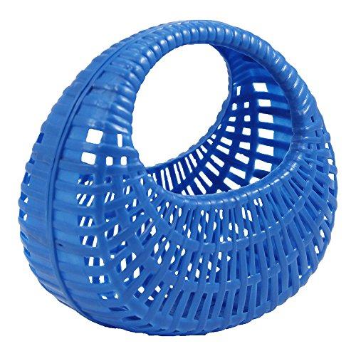 DDR Plastikkörbchen Plastikkorb blau, Spielzeugkörbchen, Kunststoffkörbchen, Einkaufskörbchen, Kinderkorb