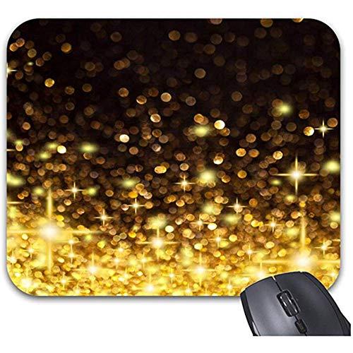 QDAS Mauspad Glitter Gold DOT Zubehör für Büro