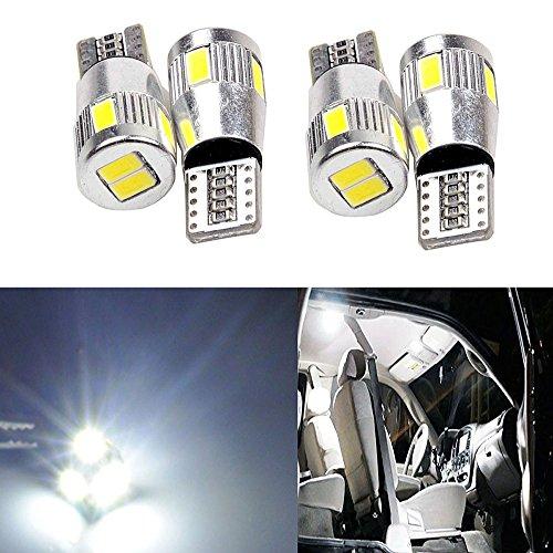 SMKJ T10 5630 - Bombilla LED de repuesto para luz de freno de coche RV, luz de marcha atrás, bombillas de luz diurna (DV-12 V), color blanco