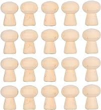 20 stks Peg Doll Lichamen, natuurlijke Onafgewerkte Houten Peg Doll Lichamen Hout Paddestoel Hoofd Vorm Onvoltooide DIY De...