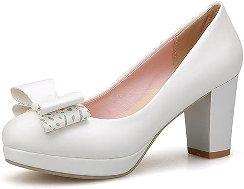 Single zapatos - female zapatos solos del temperamento de los altos talones del de los zapatos del resorte y del otoño (Color   blanco, Tamaño   39-zapatos long245mm)