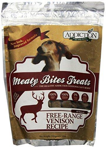 Meaty Bites - Venison Grain Free Dog Treats 12oz by Addiction Pet Foods