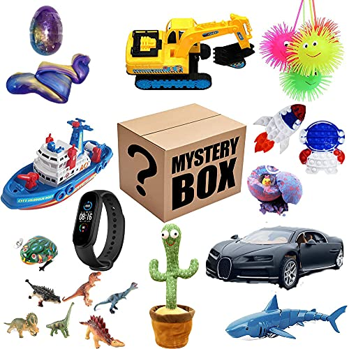 CXVXC Kid Toy Mystery Box, Mystery Box, slumpmässig elektronisk sminklåda, överraskningslåda, blindlåda kan öppnasleksaker, smink, elektronik, mobiltelefoner, väska allt är möjligt.