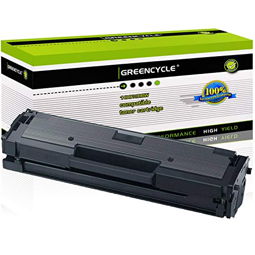 GREENCYCLE Toner Cartridge Replacement Compatible for Samsung 111S 111L MLT-D111S MLT-D111L Use in Xpress M2020W M2022W M2024W M2070F M2070W M2070FW Printers (Black, 1-Pack)