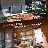 Inkbird IBT-2X Digital BBQ Grill Bluetooth Smoker Thermometer , 150 feet Wireless Cooking Meat Thermometer with Timer and Alarm for Kitchen Oven Barbecue, Dual Probes