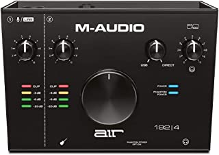 M-Audio AIR 192|4 - USB Audio Interface with 2-In/2-Out, Recording Software from ProTools & Ableton Live, Plus Studio-Grad...