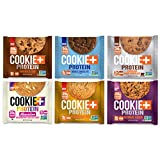 Bake City Cookie Plus Protein   Protein Cookies, 20g Protein, Non GMO, Vegan, Plant Based, Kosher, No Artificial Flavors (VARIETY, 12 Cookies)