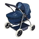 ColorBaby -  Cochecito de muñecas plegable 3 en 1 Baby Style, Azul(44919)