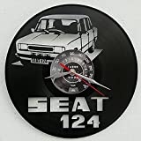Vinywoody Seat 124 Faro Cuadrado Reloj de Vinilo