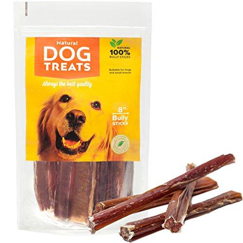 Ochsenziemer 20 cm für Hunde, 100% Natürlich Getrocknet Rinderkopfhaut Kauartikel, 10 Stück