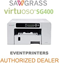 Sawgrass Virtuoso SG400 Printer. Bundle with Complete Set of Sublijet HD Inks and 110 Sheets of Our Sublimation Paper Made in Japan (SUBLIMAX Brand).