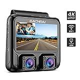 EACHPAI X100 Plus 4K HD WiFi Dashcam, Cámara Dual Cámara de Coche para Delantero y Trasero, Pantalla de 3' Dash Cam con GPS y Visión Nocturna