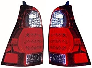 Go-Parts - PAIR/SET - OE Replacement for 2006 - 2009 Toyota 4Runner Rear Tail Lights Lamps Assemblies / Lens / Cover - Left & Right (Driver & Passenger) Side TO2801172 TO2800172 81551-35320