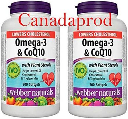 Webber Naturals Award-winning store Omega-3 Philadelphia Mall CoQ10 with Sterols Plant X 200softgels