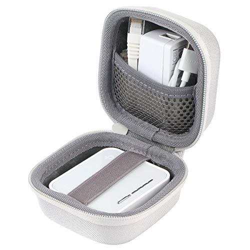 co2CREA Harte reiseschutzhülle Etui Tasche für TP-Link TL-WR902AC AC750 WLAN Nano Travel Router (Nur Weiß Hülle)