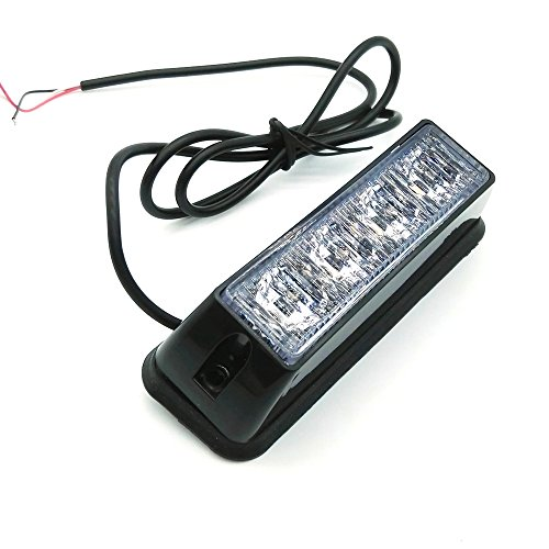 Heinmo Lot de 2 ampoules à 4 LED pour voiture et camion - 6 couleurs - Lumière stroboscopique LED 12 V 24 V - Vert