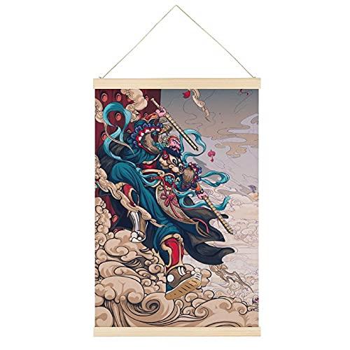 ADWE - Carta da parati da appendere con porta cinese, motivo Dio e porta, 61 x 91 cm