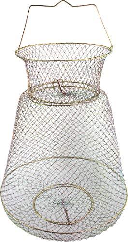 Storfisk fishing & more Draht Setzkescher aus rostfreiem Metall, galvanisch beschichtet mit Federklappenverschluss, Größe:Groß