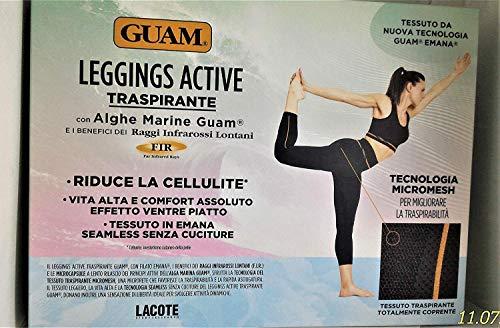 Guam Leggings Active Traspirante con Alghe Taglia S_M 42-44 Coprente Senza Cuciture Effetto Ventre Piatto