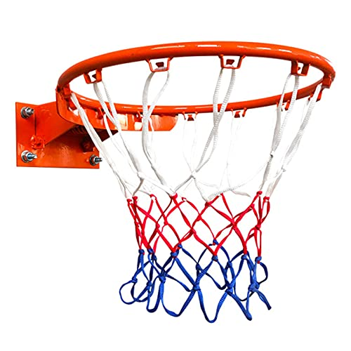 TLM Toys Canasta de baloncesto con red, canasta de baloncesto para interior y exterior, para baloncesto n.º 7, adolescentes, para entusiastas del baloncesto del fitness