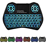 Backlit Mini Keyboard Touchpad Mouse,I9 Mini Wireless Keyboard with Touchpad and Multimedia Keys, USB ports for Android TV Box Smart TV HTPC PS3 Linux Windows OS