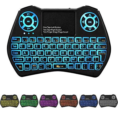 Backlit Mini Keyboard Touchpad Mouse,I9 Mini Wireless...