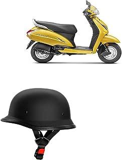 Adroitz Classic German Style Bike Half Helmet For Hero Splendor Pro Classic (Black)